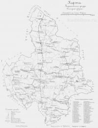 Карта Кадниковского уезда 1900 год